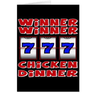 WINNER WINNER CHICKEN DINNER GREETING CARD