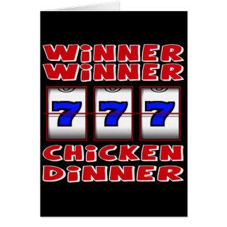 WINNER WINNER CHICKEN DINNER GREETING CARD