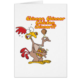 winner winner chicken dinner irony humor greeting card