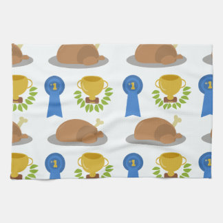 Winner Winner Chicken Dinner Pattern Tea Towel