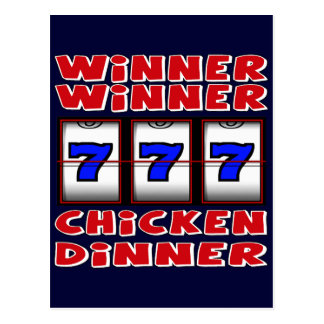 WINNER WINNER CHICKEN DINNER POSTCARD