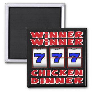 WINNER WINNER CHICKEN DINNER SQUARE MAGNET