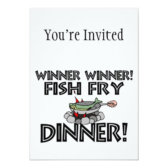 Winner Winner Fish Fry Dinner Card