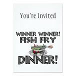 Winner Winner Fish Fry Dinner Custom Invites