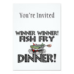 Winner Winner Fish Fry Dinner 5x7 Paper Invitation Card