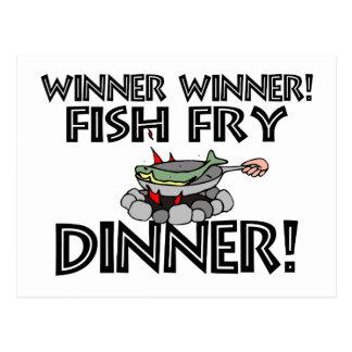 Winner Winner Fish Fry Dinner Postcard