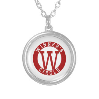 WINNERS CIRCLE ROUND PENDANT NECKLACE