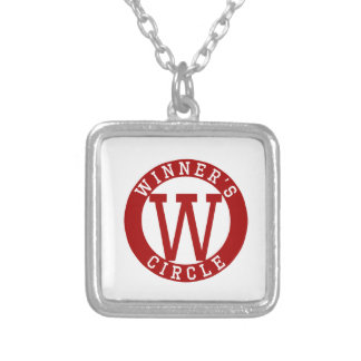 WINNERS CIRCLE SQUARE PENDANT NECKLACE