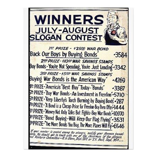 Winners July - August Slogan Contest Custom Flyer