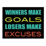 Winners Make Goals, Loser Make Excuses Postcard