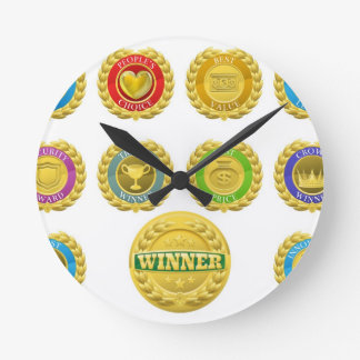 Winners medals clocks