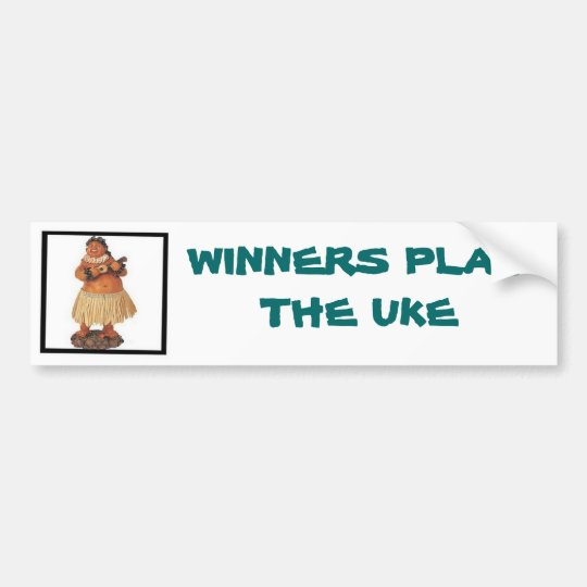 Winners Play the Uke Bumper Sticker