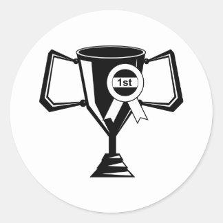 Winners Trophy Classic Round Sticker