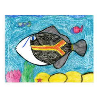Winning art by  A. Fegers - Grade 4 Postcard