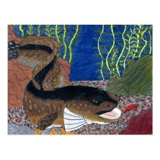 Winning art by  C. Olson - Grade 7 Post Cards