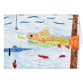Winning art by  E. Hornacek - Grade 6 Greeting Card