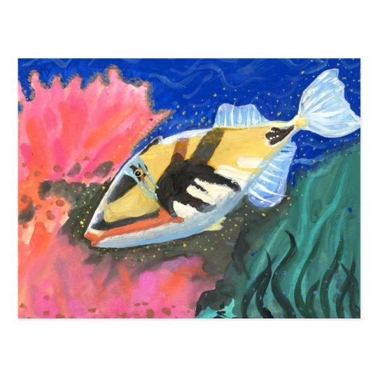 Winning art by  I. Liu - Grade 7 Postcard