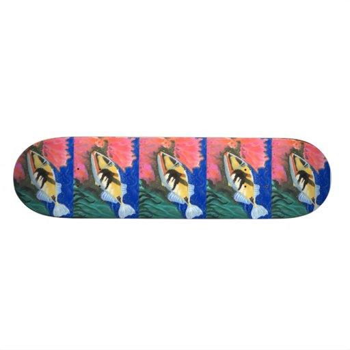 Winning art by  I. Liu - Grade 7 Skateboard Decks