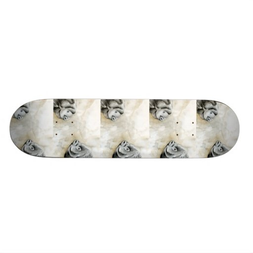 Winning art by  K. Hepp - Grade 11 Skate Board Deck