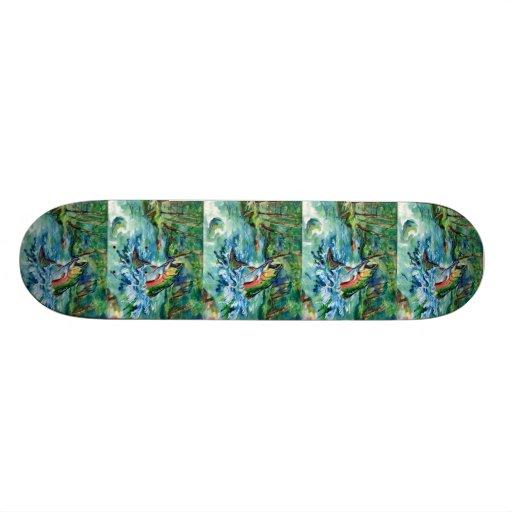 Winning art by  K. Mao - Grade 10 Skateboard