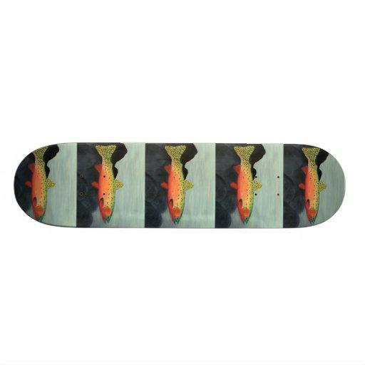 Winning art by  S. Clayton - Grade 7 Skate Board Deck