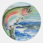 Winning Art By S. Yi Grade 7 Round Stickers