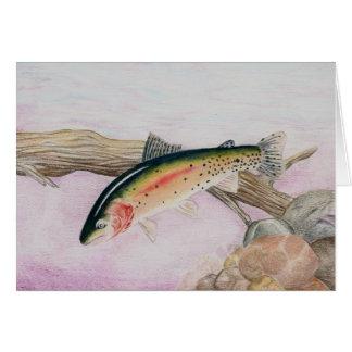 Winning Art By U. Roy Grade 7 Greeting Card
