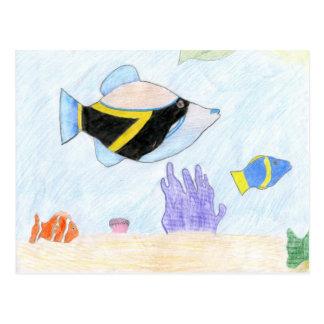 Winning artwork by B. Leon, Grade 6 Postcard