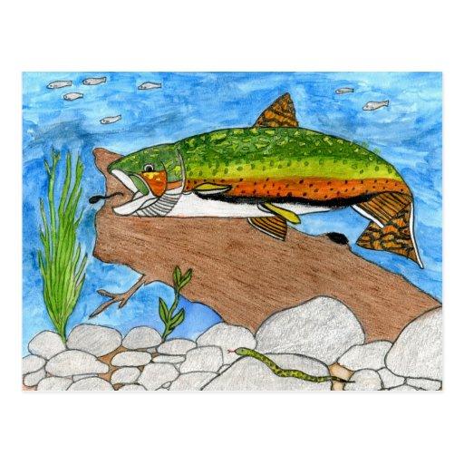 Winning artwork by C. Freshour, Grade 6 Postcards