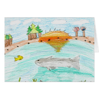 Winning artwork by C. Rousseau, Grade 4 Greeting Card
