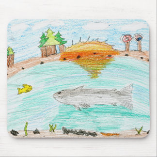 Winning artwork by C. Rousseau, Grade 4 Mouse Mat