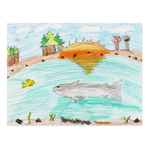 Winning artwork by C. Rousseau, Grade 4 Post Card