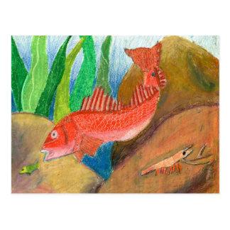 Winning artwork by D. Gutierrez, Grade 8 Postcard