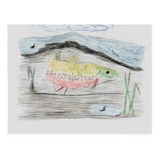 Winning artwork by E. Boulter, Grade 8 Postcard