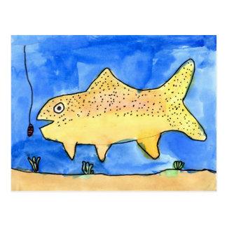 Winning artwork by E Gardner Grade 4 Postcards
