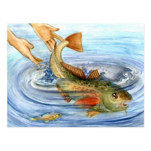 Winning artwork by J. Lin, Grade 10 Post Cards