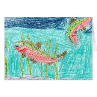 Winning artwork by J. Vaughan, Grade 4 Greeting Card