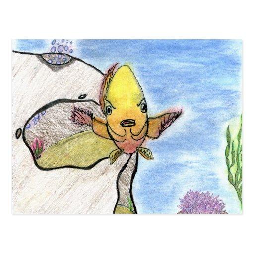 Winning artwork by K. Gill, Grade 9 Post Card