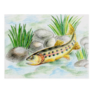 Winning artwork by K. Lu, Grade 6 Postcard
