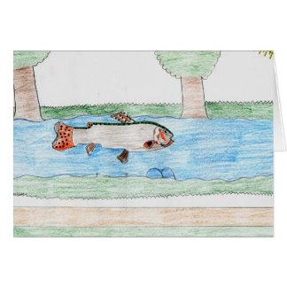 Winning artwork by K. Rodriguez, Grade 8 Greeting Card