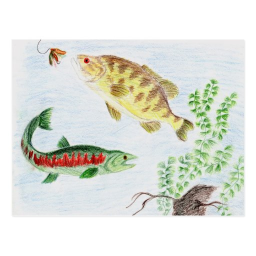 Winning artwork by M. Nadeau, Grade 6 Post Cards