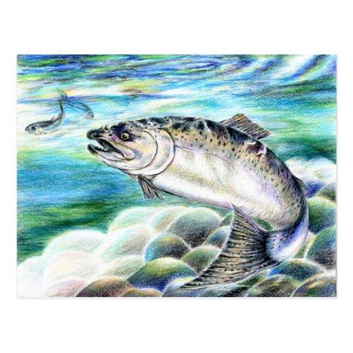 Winning artwork by S. Kang, Grade 11 Post Cards