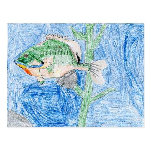 Winning artwork by S. Karch, Grade 4 Postcard