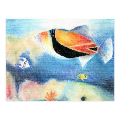 Winning artwork by S. Yang, Grade 12 Post Card
