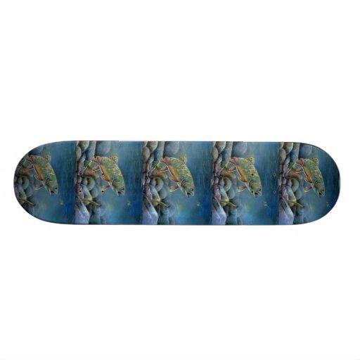 Winning artwork by Y. Pozynich, Grade 12 Skate Board Deck