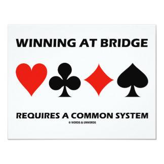 Winning At Bridge Requires A Common System 11 Cm X 14 Cm Invitation Card