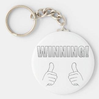 Winning! Basic Round Button Key Ring