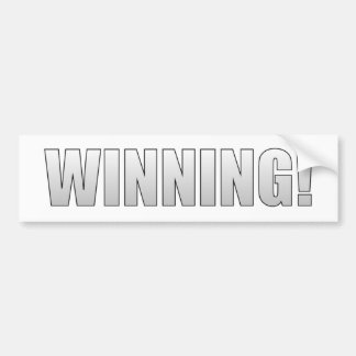 Winning! Bumper Stickers