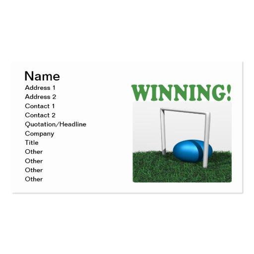 Winning Business Card Template