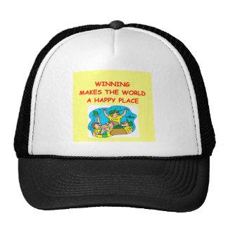 winning cap